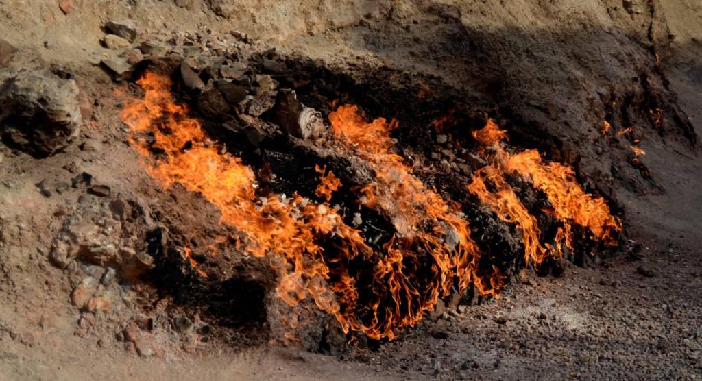 جبل النار في باكو